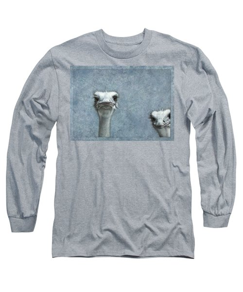 Ostriches Long Sleeve T-Shirt by James W Johnson