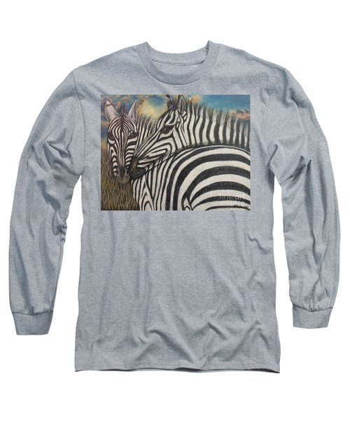 Our Stripes May Be Different But Our Hearts Beat As One Long Sleeve T-Shirt by Kimberlee Baxter