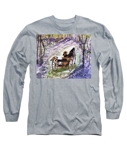 Out In The Meadowbrook Cart Long Sleeve T-Shirt