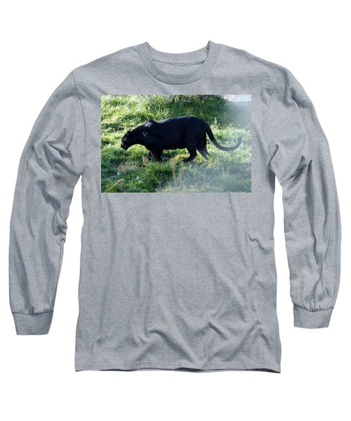Out Of Africa  Black Panther Long Sleeve T-Shirt