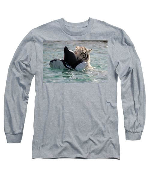 Out Of Africa Tiger Splash 4 Long Sleeve T-Shirt