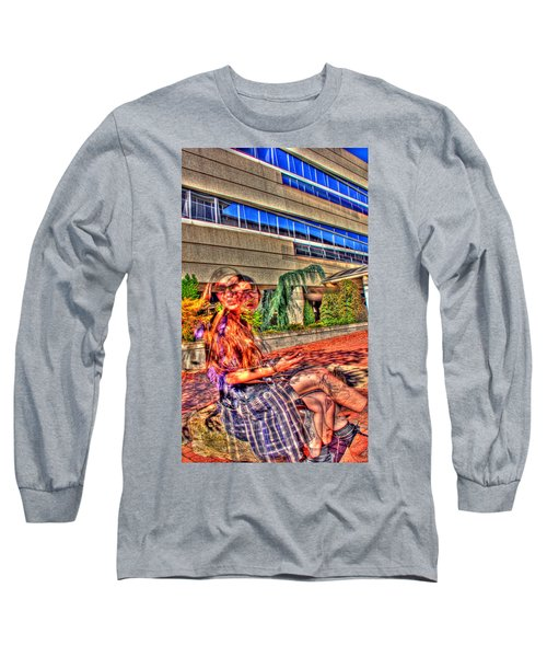 Out Of Phase 2 Long Sleeve T-Shirt by Andy Lawless