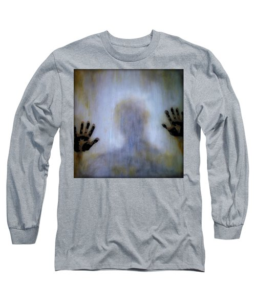 Long Sleeve T-Shirt featuring the painting Outsider by Lilia D