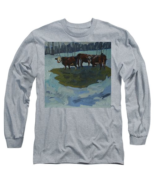 Outstanding In Their Field Long Sleeve T-Shirt by Phil Chadwick