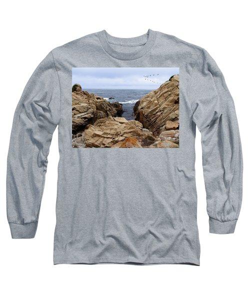 Overcast Day At Pebble Beach Long Sleeve T-Shirt