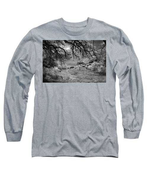 Overhanging Branches Long Sleeve T-Shirt by Michael McGowan