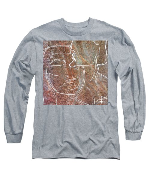 Long Sleeve T-Shirt featuring the drawing Overlaps II by Paul Davenport