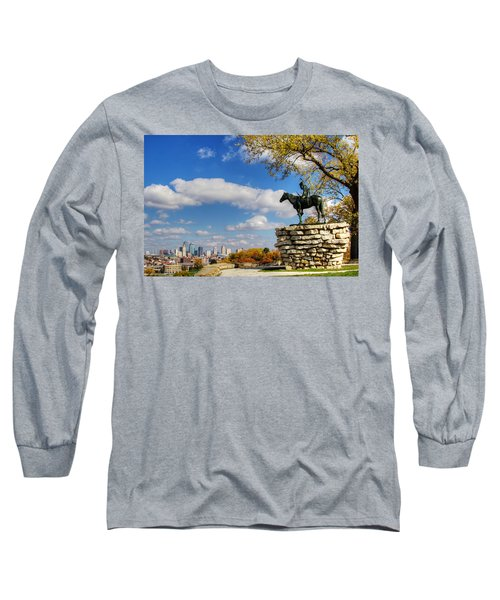 Overlooking Kansas City Long Sleeve T-Shirt