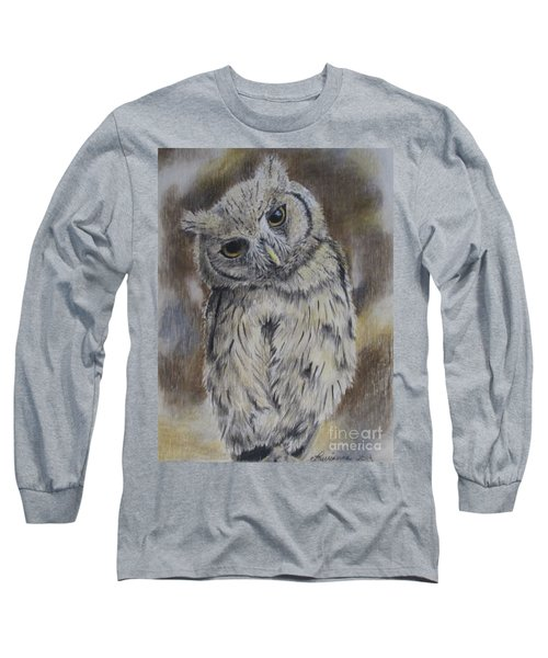 Owl Long Sleeve T-Shirt by Laurianna Taylor