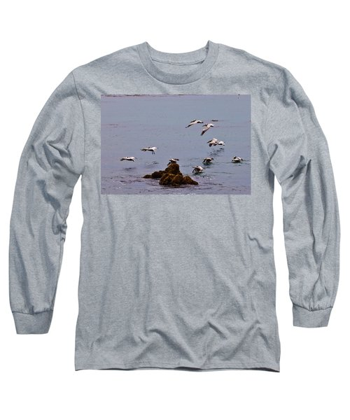 Pacific Landing Long Sleeve T-Shirt by Melinda Ledsome