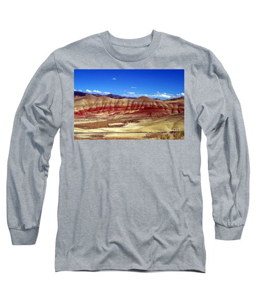 Long Sleeve T-Shirt featuring the photograph Painted Hills by Chalet Roome-Rigdon