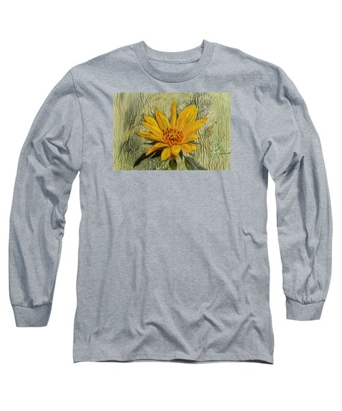 Painterly Sunflower Long Sleeve T-Shirt by Sandi OReilly