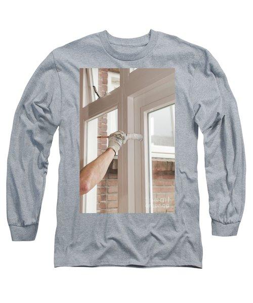 Painting Wood Long Sleeve T-Shirt