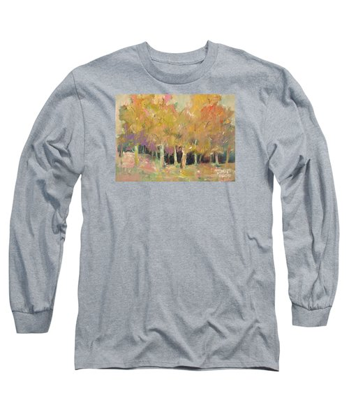 Long Sleeve T-Shirt featuring the painting Pale Forest by Michelle Abrams