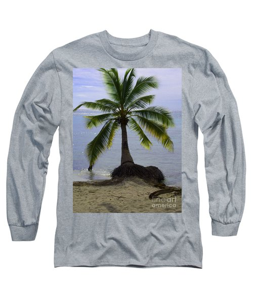 Palm At The Edge Of The Sea Number Two Long Sleeve T-Shirt