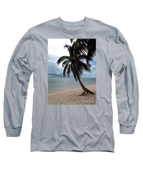 Long Sleeve T-Shirt featuring the photograph Palm On The Beach by Christiane Schulze Art And Photography