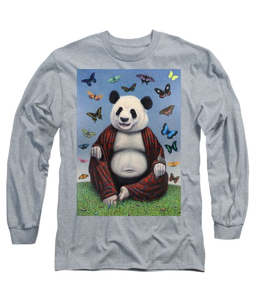 Panda Buddha Long Sleeve T-Shirt