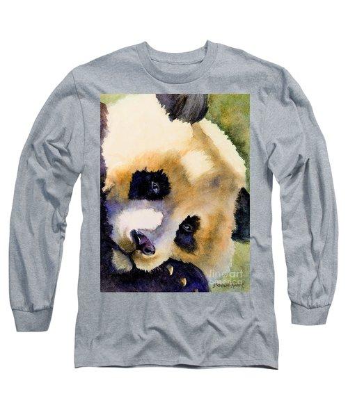 Long Sleeve T-Shirt featuring the painting Panda Cub by Bonnie Rinier