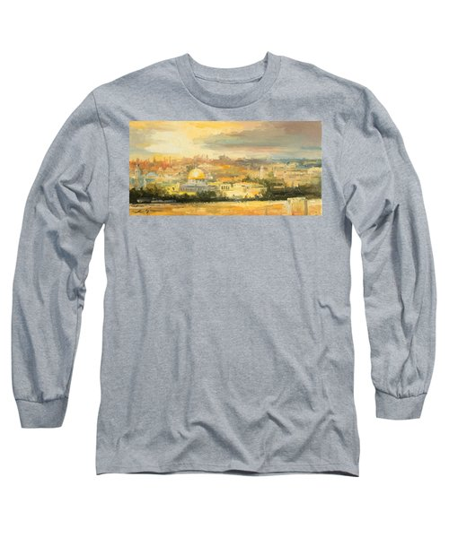 Panorama Of Jerusalem Long Sleeve T-Shirt