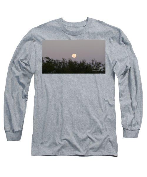 Panoramic New Orleans Moon Rising Long Sleeve T-Shirt
