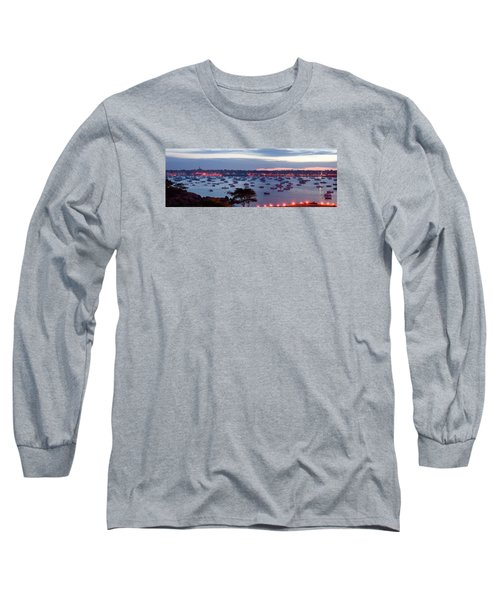 Panoramic Of The Marblehead Illumination Long Sleeve T-Shirt by Jeff Folger