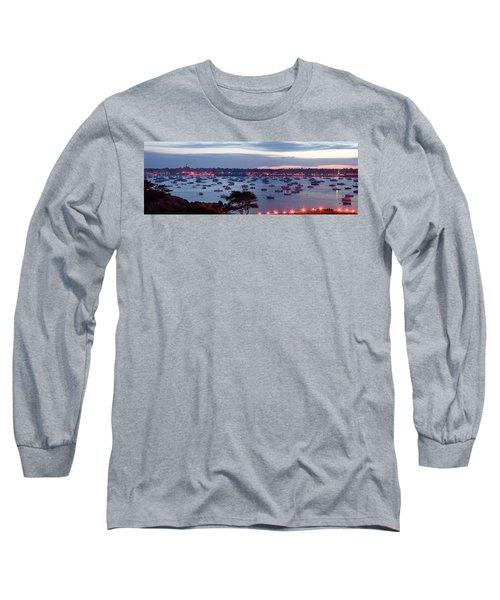 Panoramic Of The Marblehead Illumination Long Sleeve T-Shirt