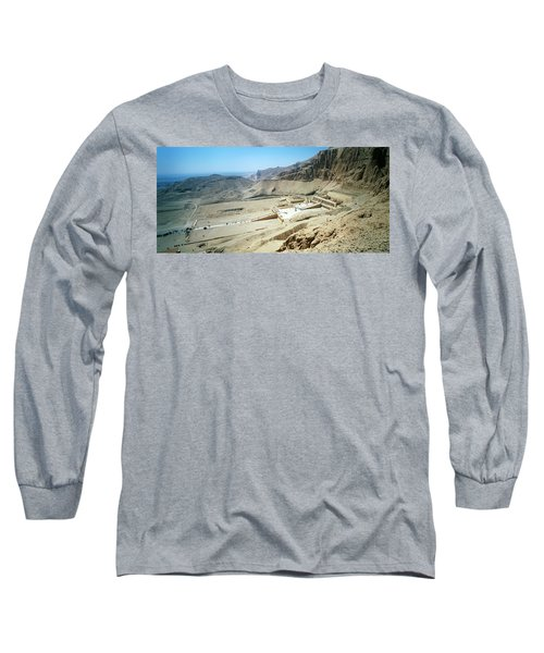 Panoramic View Over Hatschepsut Temple Long Sleeve T-Shirt