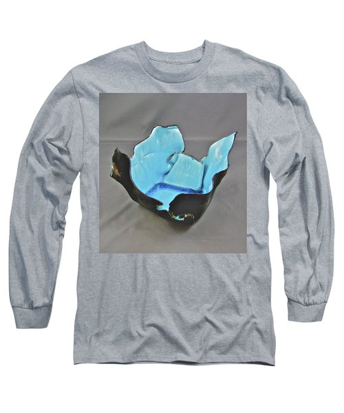 Long Sleeve T-Shirt featuring the sculpture Paper-thin Bowl  09-001 by Mario Perron