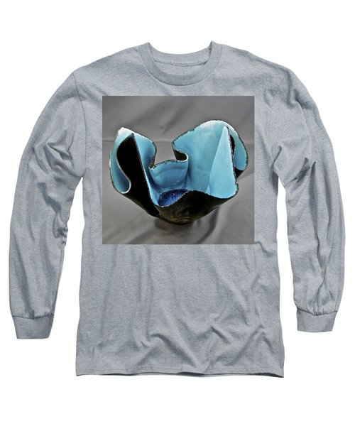 Long Sleeve T-Shirt featuring the sculpture Paper-thin Bowl  09-003 by Mario Perron