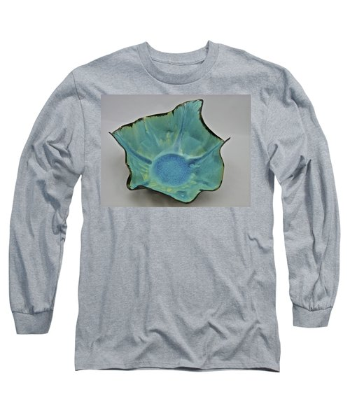 Long Sleeve T-Shirt featuring the sculpture Paper-thin Bowl  09-008 by Mario Perron