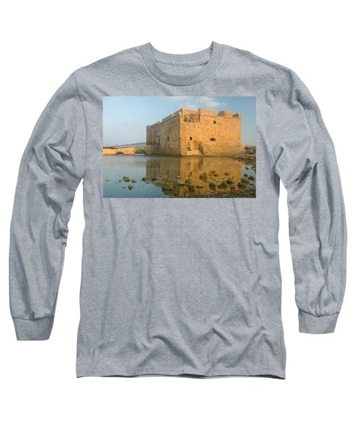 Paphos Harbour Castle Long Sleeve T-Shirt by Jeremy Voisey