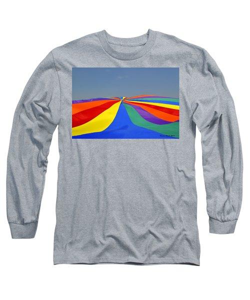 Parachute Of Many Colors Long Sleeve T-Shirt by Verana Stark