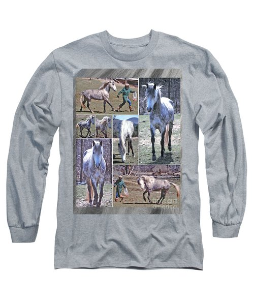 Paso Fino Stallion Horsing Around Long Sleeve T-Shirt by Patricia Keller
