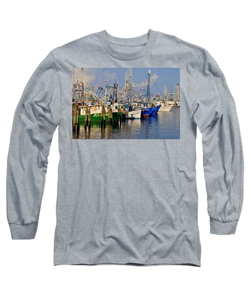 Pass Christian Harbor Long Sleeve T-Shirt by Charlotte Schafer