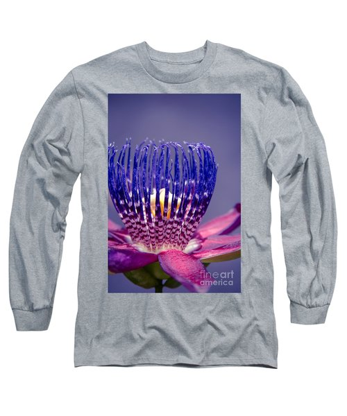Passiflora Alata - Ruby Star - Ouvaca - Fragrant Granadilla -  Winged-stem Passion Flower Long Sleeve T-Shirt