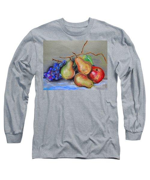 Pastel Pear Still Life Long Sleeve T-Shirt