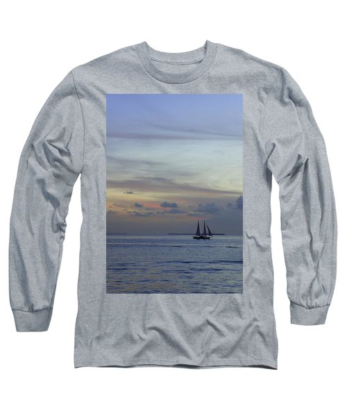 Long Sleeve T-Shirt featuring the photograph Pastel Sky by Laurie Perry