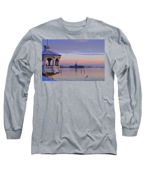 Pastel Uss Lexington Long Sleeve T-Shirt