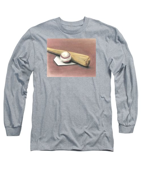 Long Sleeve T-Shirt featuring the drawing Pastime by Troy Levesque
