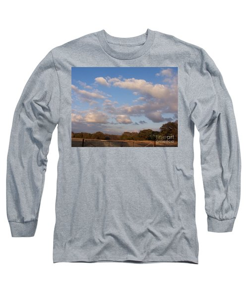 Pasture Clouds Long Sleeve T-Shirt by Susan Williams