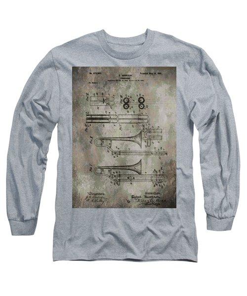 Patent Art Trombone Long Sleeve T-Shirt