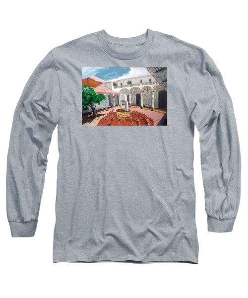 Patio Colonial Long Sleeve T-Shirt by Lazaro Hurtado