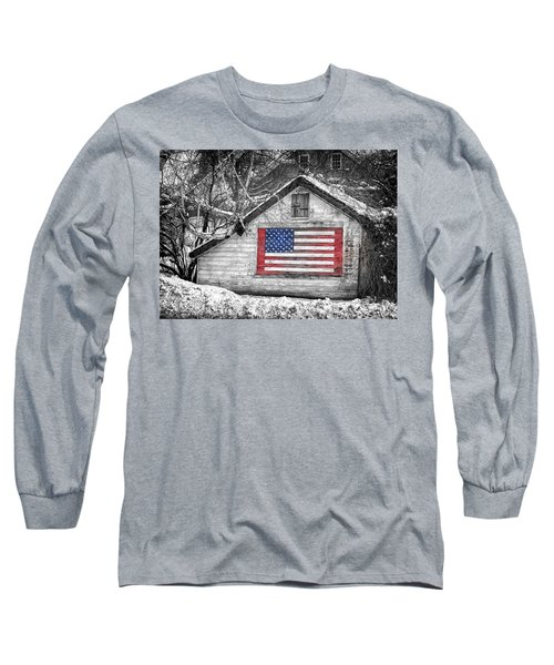 Patriotic American Shed Long Sleeve T-Shirt