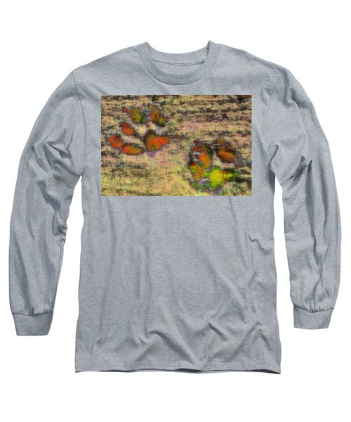 Paw Prints Like Butterflies Muted Long Sleeve T-Shirt