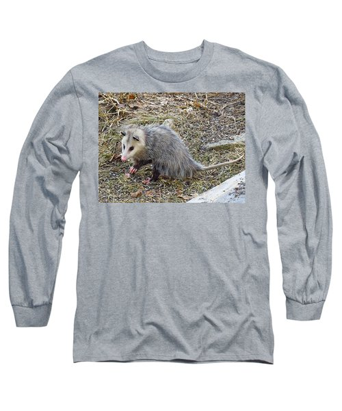 Pawing Possum Long Sleeve T-Shirt by MTBobbins Photography