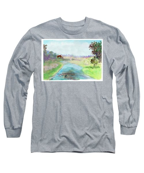 Peaceful Day Long Sleeve T-Shirt by C Sitton