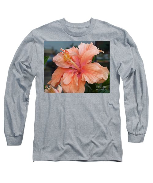Long Sleeve T-Shirt featuring the photograph Peach And Cream by Lingfai Leung