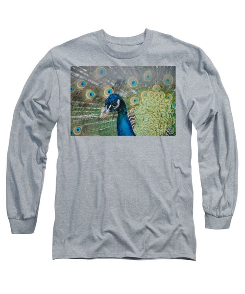 Peacock Portrait Long Sleeve T-Shirt