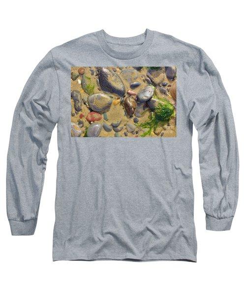 Pebbles On The Beach Long Sleeve T-Shirt