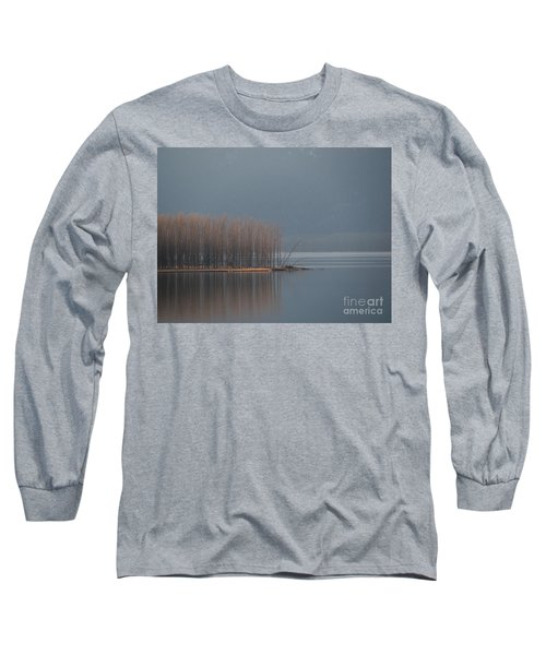 Peninsula Of Trees Long Sleeve T-Shirt by Leone Lund